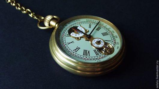 Часы ручной работы. Ярмарка Мастеров - ручная работа. Купить Карманные, механические с автоподзаводом часы. 100% латунь.. Handmade. Часы