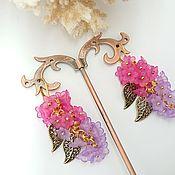 Украшения handmade. Livemaster - original item Earrings clusters of lilac long. Handmade.