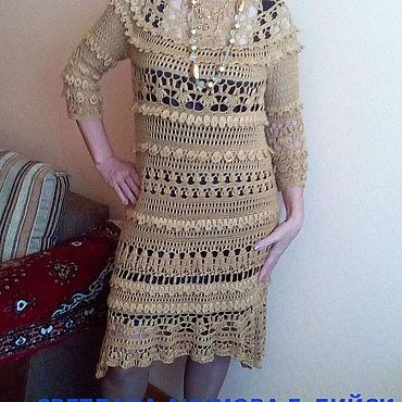 Одежда ручной работы. Ярмарка Мастеров - ручная работа Платья: платье ажурное. платье вязаное. платье крючком. платье вечерне. Handmade.