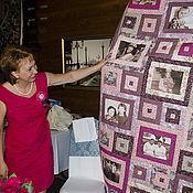 """Для дома и интерьера ручной работы. Ярмарка Мастеров - ручная работа Лоскутное покрывало """"Юбилейное """". Handmade."""