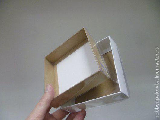 Упаковка ручной работы. Ярмарка Мастеров - ручная работа. Купить Коробка 12х12х3 см с прозрачной крышкой- упаковка. Handmade. Коробка
