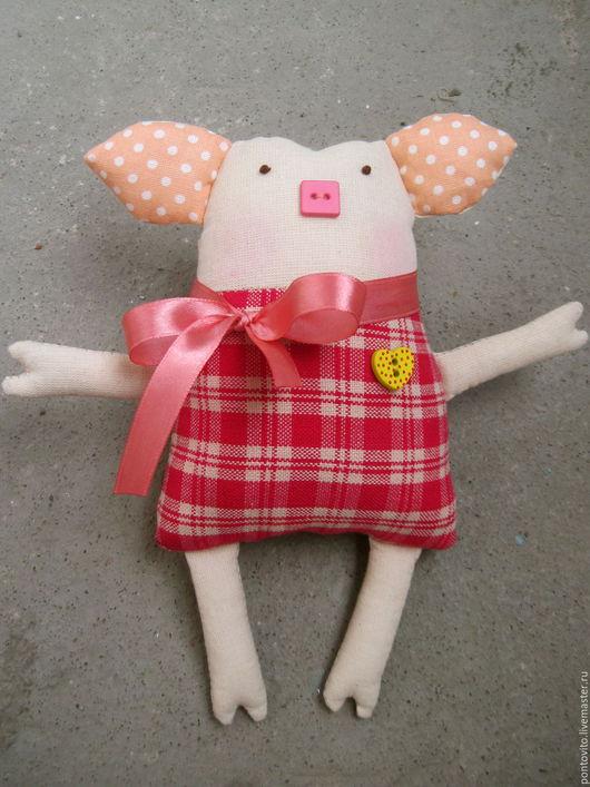 Игрушки животные, ручной работы. Ярмарка Мастеров - ручная работа. Купить Свинка. Handmade. Тильда, мягкая игрушка, чердачная игрушка
