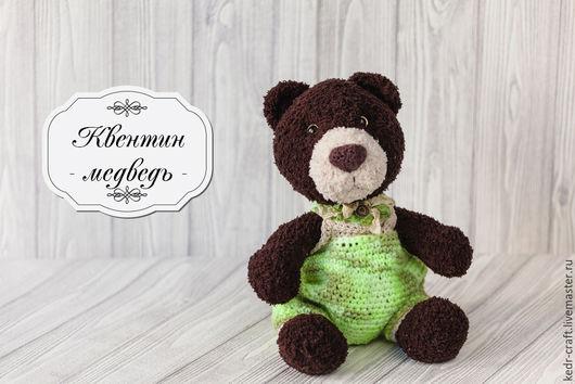 Мишки Тедди ручной работы. Ярмарка Мастеров - ручная работа. Купить мишка Квентин мягкая игрушка, бурый вязаный медведь плюшевый в камуфля. Handmade.