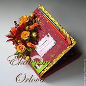 Подарки к праздникам ручной работы. Ярмарка Мастеров - ручная работа Классный Журнал (бордовый). Handmade.