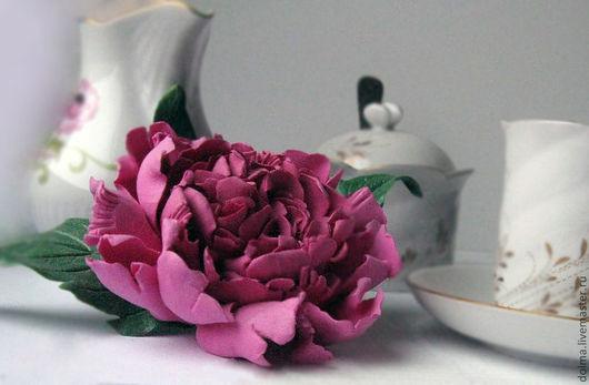 брошь,брошь цветок пиона,брошь цветок,брошь пион,Пион,украшение с цветами,брошь пионы,брошь подарок женщине,украшение для невесты