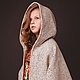 Одежда для девочек, ручной работы. Ярмарка Мастеров - ручная работа. Купить Пальто- пончо. Handmade. Бежевый, пальто на подкладе