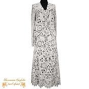 Одежда handmade. Livemaster - original item Knit dress Pearl. Handmade.
