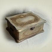 """Для дома и интерьера ручной работы. Ярмарка Мастеров - ручная работа Шкатулка """"В старинном стиле"""". Handmade."""