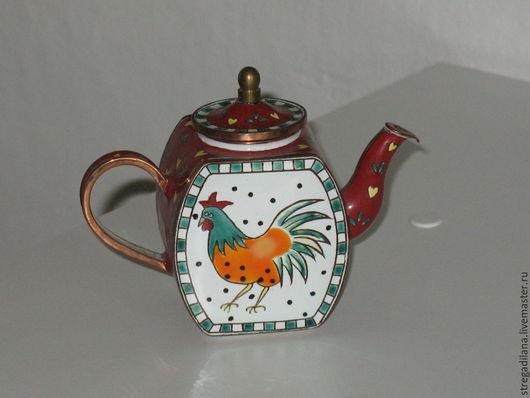 Винтажная посуда. Ярмарка Мастеров - ручная работа. Купить коллекционный декоративный чайник от Шарлотте ди Вита. Handmade. Разноцветный