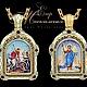 Двухсторонняя икона Святой Георгий Jeweller-X.ru