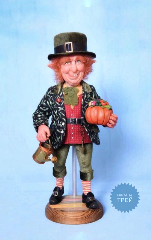 Лепрекон садовник, Портретная кукла, Саратов,  Фото №1