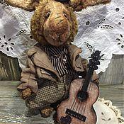 Куклы и игрушки ручной работы. Ярмарка Мастеров - ручная работа Заяц с гитарой. Handmade.