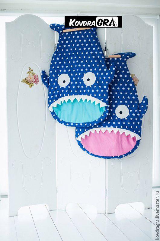 Детская ручной работы. Ярмарка Мастеров - ручная работа. Купить Спальный мешок Звездная рыбка. Handmade. Тёмно-синий