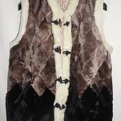 Одежда ручной работы. Ярмарка Мастеров - ручная работа Жилеты меховые для взрослых с46-56размеры. Handmade.