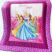 """Для дома и интерьера ручной работы. Ярмарка Мастеров - ручная работа Одеяло детское """"Бал принцесс""""  Для девочки. Handmade."""