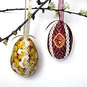 Для дома и интерьера ручной работы. Ярмарка Мастеров - ручная работа Декоративные пасхальные яйца. Handmade.