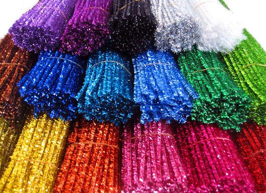 Куклы и игрушки ручной работы. Ярмарка Мастеров - ручная работа. Купить Проволока шенил металлизированная 11 цветов. Handmade.