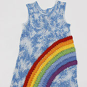 Работы для детей, handmade. Livemaster - original item Dress Rainbow. Handmade.