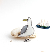 Украшения handmade. Livemaster - original item Brooch sea Chayka. Handmade.