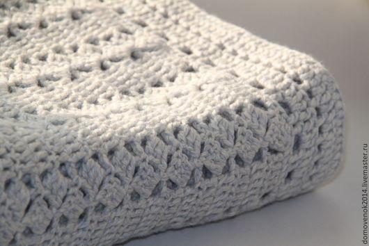 Текстиль, ковры ручной работы. Ярмарка Мастеров - ручная работа. Купить Плед Зимнее утро. Handmade. Белый, плед для новорожденного