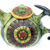 """Посуда ручной работы. Ярмарка Мастеров - ручная работа Чайник """"Чайная мандала"""". Handmade."""