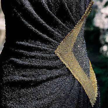 Одежда ручной работы. Ярмарка Мастеров - ручная работа Платье вечернее черное Лунный Свет. Handmade.