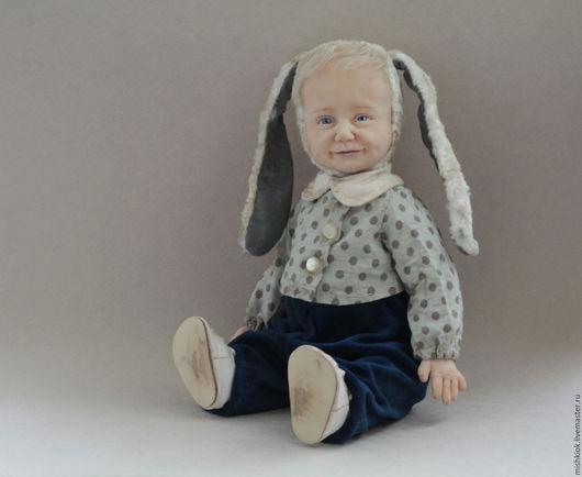 Мишки Тедди ручной работы. Ярмарка Мастеров - ручная работа. Купить теди долл Ты мой зайка маленький..... Handmade.