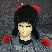 Аксессуары handmade. Livemaster - original item A cap of muskrat Pussy