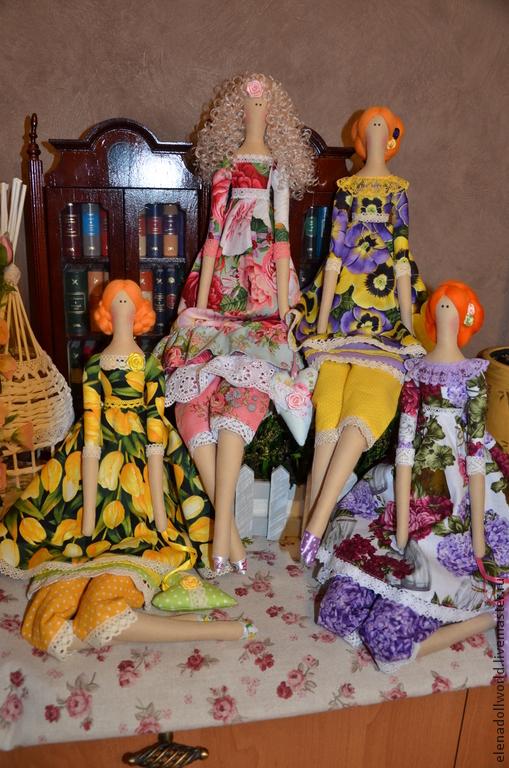 Куклы Тильды ручной работы. Ярмарка Мастеров - ручная работа. Купить Тильда,,Цветочная фея,,. Handmade. Разноцветный, роза