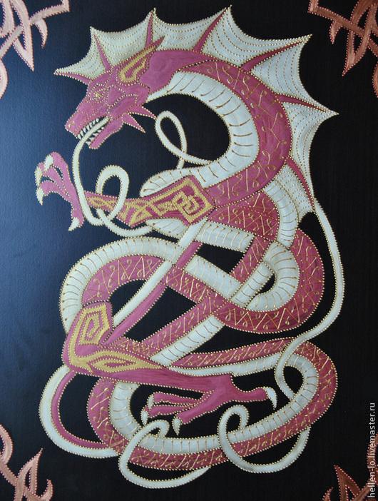 """Мебель ручной работы. Ярмарка Мастеров - ручная работа. Купить Комод """"Кельтский дракон"""". Handmade. Роспись мебели, шкаф, дракон"""