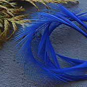 Материалы для творчества handmade. Livemaster - original item Decorative Feather Blue 8-15 cm. Handmade.