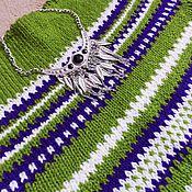 Одежда ручной работы. Ярмарка Мастеров - ручная работа Вязаная кофта Фиолетово-зеленый сон. Handmade.