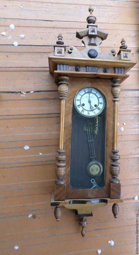 Винтажные предметы интерьера. Ярмарка Мастеров - ручная работа. Купить Часы старинные 19век. Handmade. Коричневый, подарок, старина