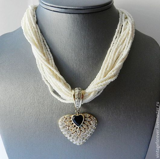 Винтажные украшения. Ярмарка Мастеров - ручная работа. Купить Колье Vogue Bijoux, винтаж, Италия, 80-е годы. Handmade.