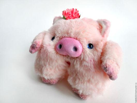 Мишки Тедди ручной работы. Ярмарка Мастеров - ручная работа. Купить Хрюшка Манюня. Handmade. Розовый, подарок, талисман, проволока
