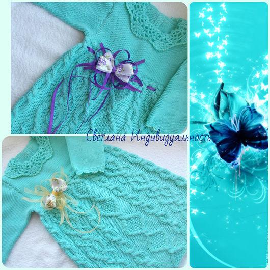 Одежда для девочек, ручной работы. Ярмарка Мастеров - ручная работа. Купить Платье Голубая лагуна. Handmade. Бирюзовый, нарядное платье