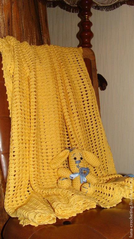 Пледы и одеяла ручной работы. Ярмарка Мастеров - ручная работа. Купить Детский пледик Sunny Bunny. Handmade. Желтый