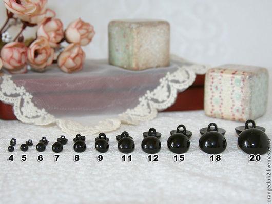 Куклы и игрушки ручной работы. Ярмарка Мастеров - ручная работа. Купить Глазки черные на петельке вид №1. Handmade.