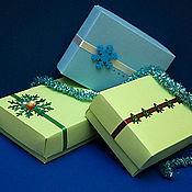 Сувениры и подарки ручной работы. Ярмарка Мастеров - ручная работа Коробочки новогодние 15х12,5х5 см. Handmade.