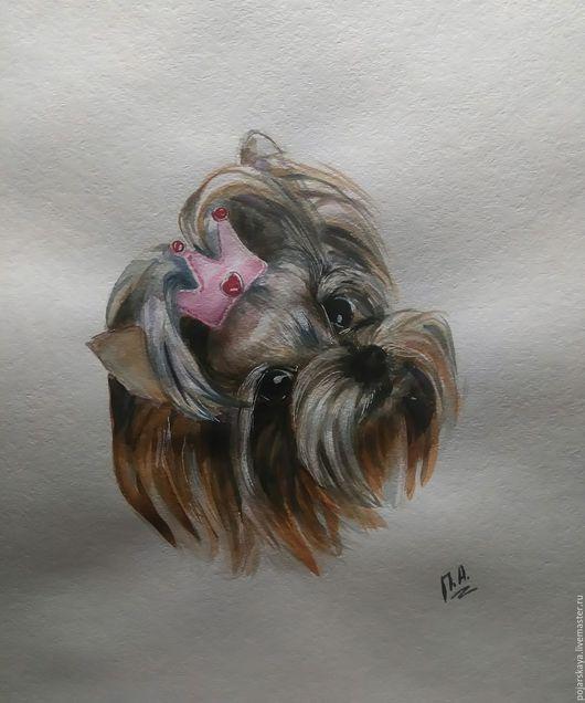 Животные ручной работы. Ярмарка Мастеров - ручная работа. Купить Портрет счастья!1. Handmade. Комбинированный, домашний уют, собака