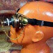 "Субкультуры handmade. Livemaster - original item Monocle Steampunk ""SCIENTIST CYBER-48"". Handmade."