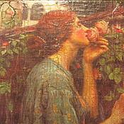 """Для дома и интерьера ручной работы. Ярмарка Мастеров - ручная работа Шкатулка """"Девушка и розы"""" работа продана. Handmade."""
