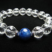Украшения handmade. Livemaster - original item Bracelet kyanite rock crystal