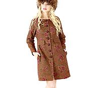 Одежда ручной работы. Ярмарка Мастеров - ручная работа Очень теплое романтичное пальто Аманда. Handmade.