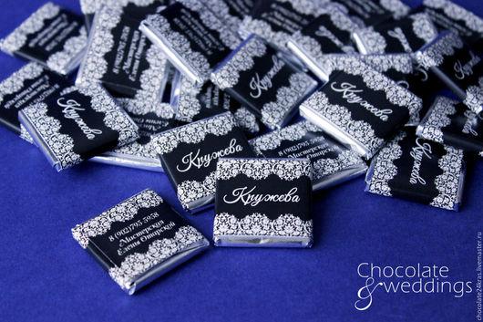 Визитки ручной работы. Ярмарка Мастеров - ручная работа. Купить Шоколад с логотипом Кружева. Handmade. Шоколад с логотипом, шоколад