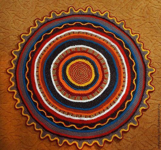 Текстиль, ковры ручной работы. Ярмарка Мастеров - ручная работа. Купить коврик Яркое солнце-2. Handmade. Коврик