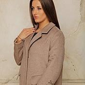 Одежда handmade. Livemaster - original item Overcoat Beige insulated AMODAY cashmere. Handmade.