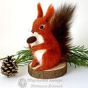 Куклы и игрушки handmade. Livemaster - original item Manual squirrel – toy interior / protein felted wool /felt. Handmade.