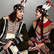 Одежда ручной работы. Ярмарка Мастеров - ручная работа Индейцы (дуэт карнавальных костюмов). Handmade.