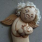 """Куклы и игрушки ручной работы. Ярмарка Мастеров - ручная работа Ангел """"Пряник"""" с деткой (подвесной). Handmade."""